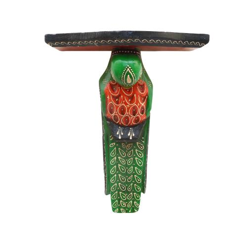 WOODEN PAINTED PARROT BRACKET
