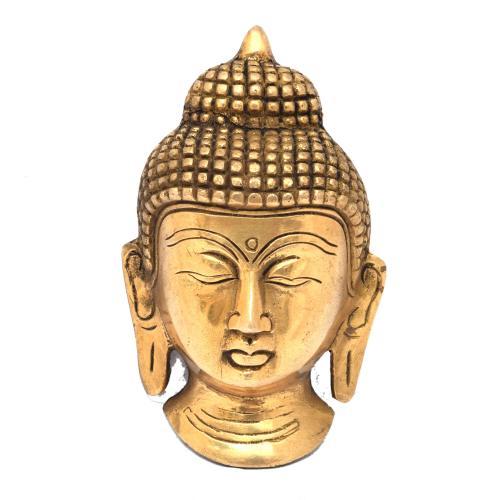 BRASS BUDDHA BUST WALL HANGING