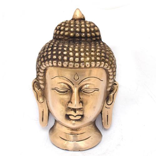 BRASS BUDDHA FACE WALL HANGING