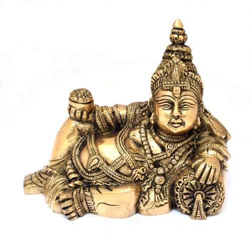 BRS KUBERA RESTING HOLDING BOWL OF COIN