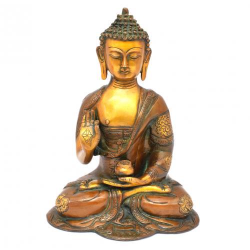 BRASS BUDDHA SAKHYAMUNI