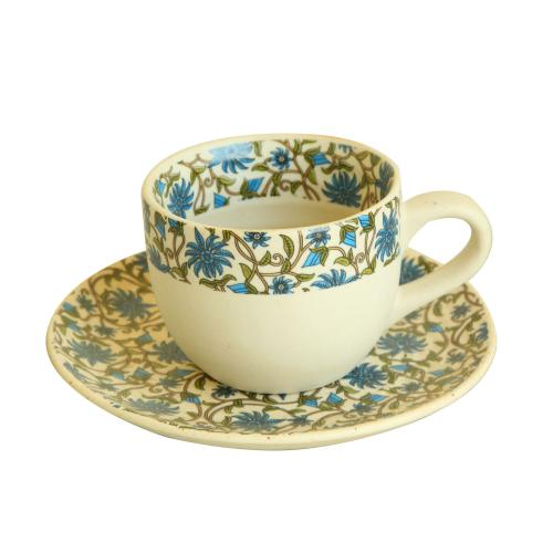 CERAMIC CUP AND SAUCER