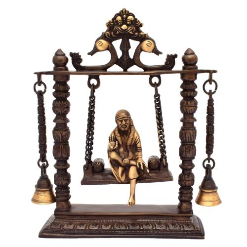 BRASS SAIBABA JHULA WITH BELL AQ