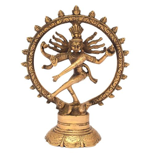 BRASS SCULPTURE NATARAJA ON BASE