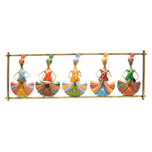 WROUGHT IRON SARDAAR MUSIC PANEL WALL HANGING
