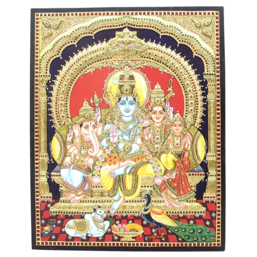 22CT GOLD PLATED SHIVA FAMILY EMB