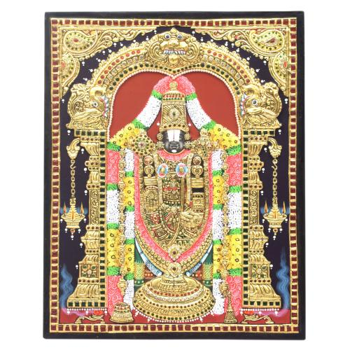 22 CT GOLD PLATED BALAJI TANJORE PAINTING