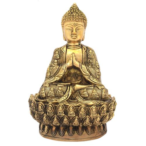 BRS BUDDHA SITTING ON ASHTAMANGAL ANTIQUE