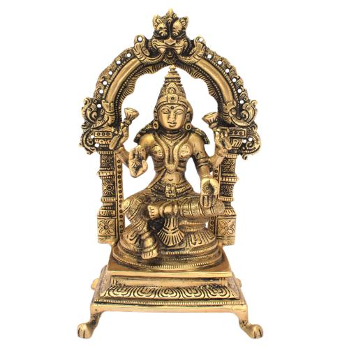 LAKSHMI WITH PRABHAVALI BRASS IDOL