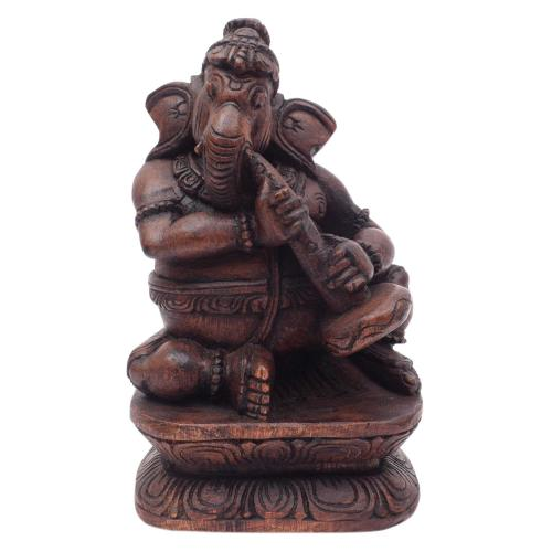 MUSIC GANESHA PLAYING TANGMURI MUSIC GANESHA VAAGAI WOODEN SCULPTURES