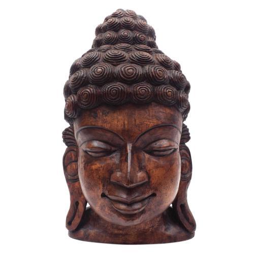 BUDDHA FACE VAAGAI WOODEN SCULPTURES
