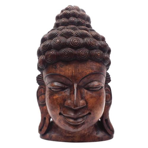 BUDDHA FACE VAAGAI WOODEN SCULPTURES
