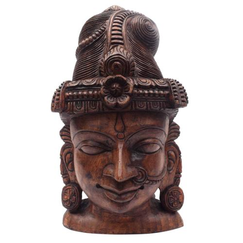 PARVATHI FACE VAAGAI WOODEN SCULPTURES