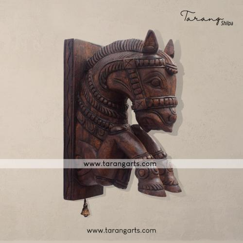 HORSE BRACKET VAAGAI WOODEN SCULPTURES WALL HANGING HOME DECOR HOME TEMPLE TARANG WOODEN HANDICRAFTS