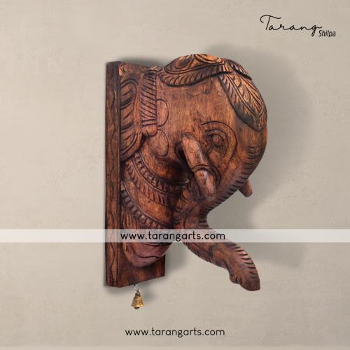 ELEPHANT VAAGAI WOODEN SCULPTURES WALL HANGING HOME DECOR HOME T