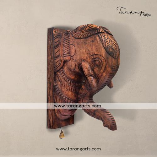 ELEPHANT VAAGAI WOODEN SCULPTURES WALL HANGING HOME DECOR HOME TEMPLE TARANG WOODEN HANDICRAFTS