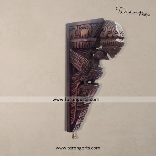 PARROT BRACKET VAAGAI WOODEN SCULPTURES WALL HANGING HOME DECOR HOME TEMPLE TARANG WOODEN HANDICRAFTS
