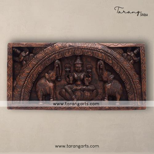 LAKSHMI PANEL VAAGAI WOODEN SCULPTURES WALL HANGING HOME DECOR HOME TEMPLE TARANG WOODEN HANDICRAFTS