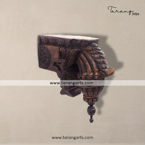 VAZHAIPOO BRACKET VAAGAI WOODEN SCULPTURES WALL HANGING HOME DECOR HOME TEMPLE TARANG WOODEN HANDICRAFTS