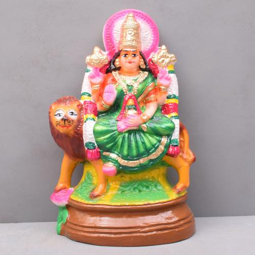 DURGA SITTING ON LION GOLU DOLLS