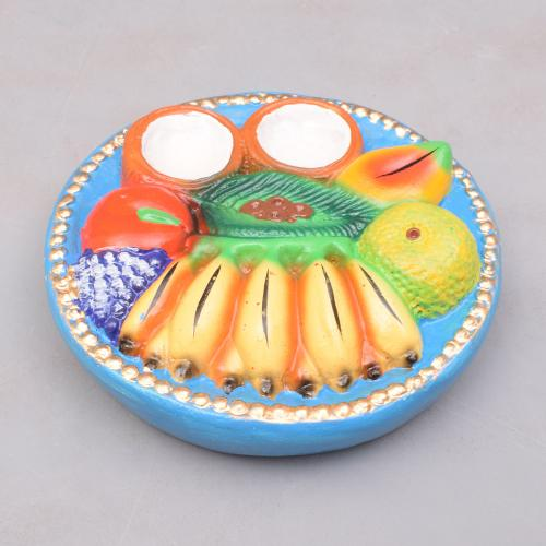 FRUITS PLATE PAPER MACHE DUSSERA DOLL GOLU DOLL TARANG HANDICRAFTS