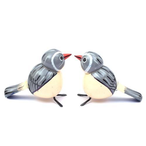 BIRDS SET OF 2 ETIKOPPAKA WOODEN TOYS HANDMADE DUSSEHRA DOLLS GOLU DOLLS HOME DECOR TARANG HANDICRAFTS