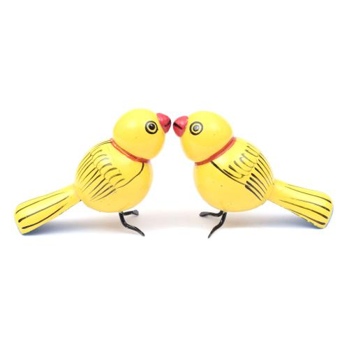 BIRDS SET OF 2ETIKOPPAKA WOODEN TOYS HANDMADE DUSSEHRA DOLLS GOLU DOLLS HOME DECOR TARANG HANDICRAFTS