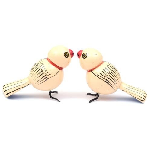 BIRDS SET OF 2 ETIKOPPAKA WOODEN TOYS HANDMADE DUSSEHRA DOLLS GOLU DOLLS HOME DECOR TARANG HANDICRAFTS