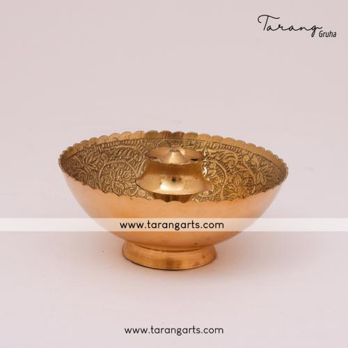 BRASS AKHAND INCENSE HOLDER FANCY BRASS AKHAND INCENSE HOME TEMPLE PUJA DECOR