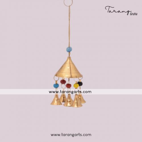 BRASS BELL WALL HANGING HOME DECOR HOME TEMPLE PUJA DECOR