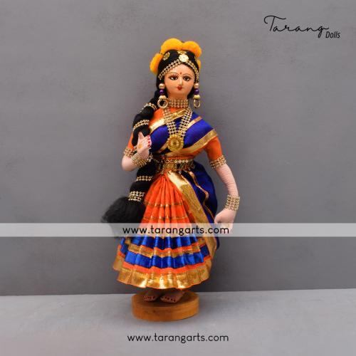 DANCING LADY BENGALI TRADITIONAL GOLLU DOLLS HANDMADE HOME DECOR TARANG HANDICRAFT
