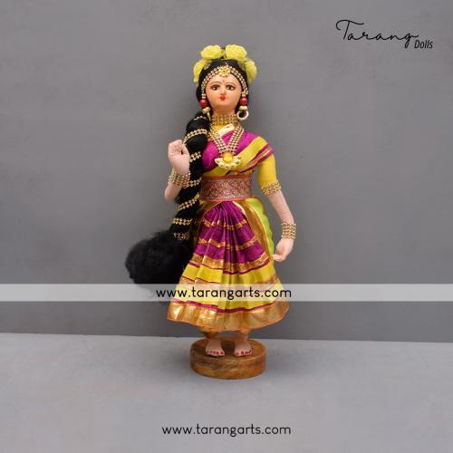 DANCING LADY BENGALI TRADITIONAL GOLLU DOLLS HANDMADE HOME DECOR TARANG HANDICRAFTS