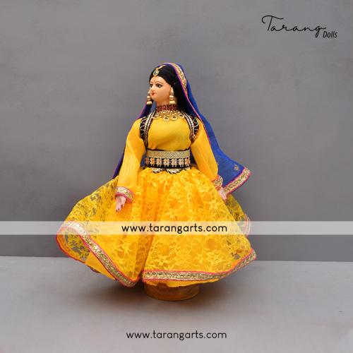 DANCING LADY BENGALI TRADITIONAL GOLLU DOLLS HANDMADE HOME DECOR TARANG HANDICRAFTS