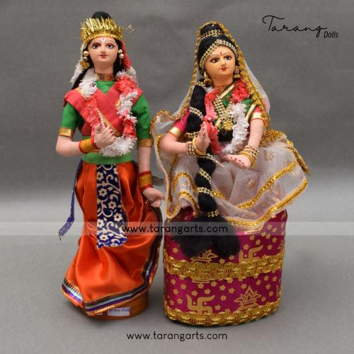 MANIPURI RADHA KRISHNA BENGALI TRADITIONAL GOLU DOLLS HANDMADE HOME DECOR TARANG HANDICRAFTS
