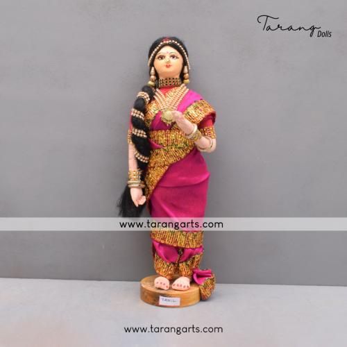 SOUTH INDIAN BRIDE BENGALI TRADITIONAL GOLU DOLLS HANDMADE HOME DECOR TARANG HANDICRAFTS