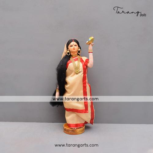 BENGALI  BRIDE BENGALI TRADITIONAL GOLU DOLLS HANDMADE HOME DECOR TARANG HANDICRAFTS
