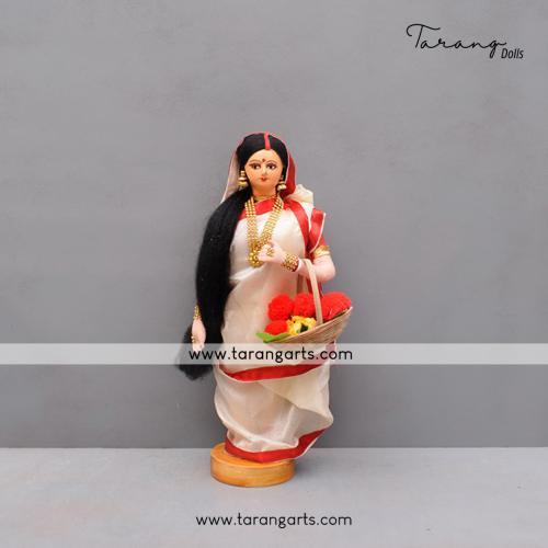 BENGALI BRIDE BENGALI TRADITIONAL GOLU DOLLS HANDMADE HOME DECOR TARANG HANDICRAFTS