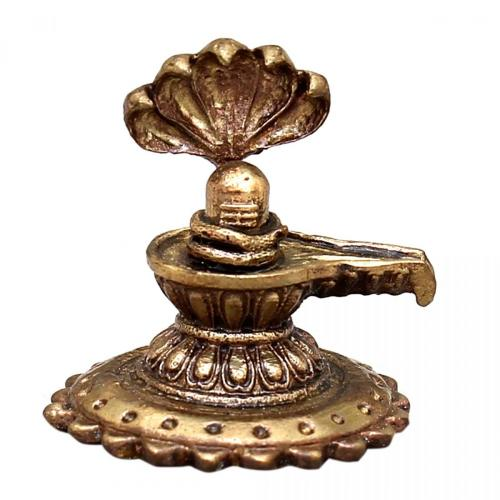 SHIVA LINGAM WITH SNAKE SOLID BRONZE STATUE