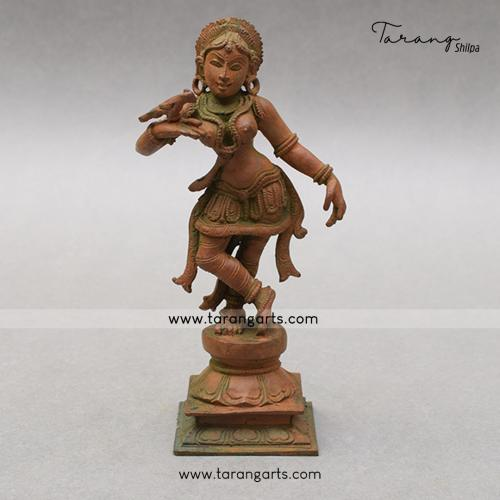 LADY DANCING PANCHALOHA IDOL ANTIQUE FINISH