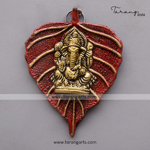 LEAF GANESHA WALL HANGING