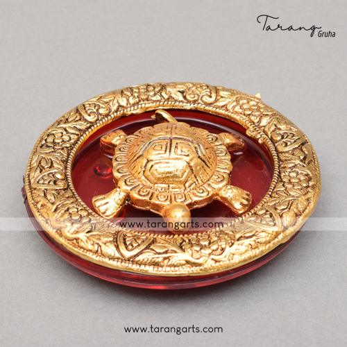 TORTOISE RED ROUND PLATE