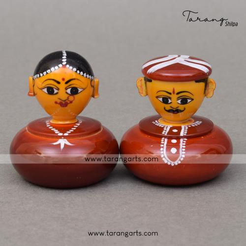 KUMKUM COUPLE DOLL BOX ETIKOPPAKA TOYS
