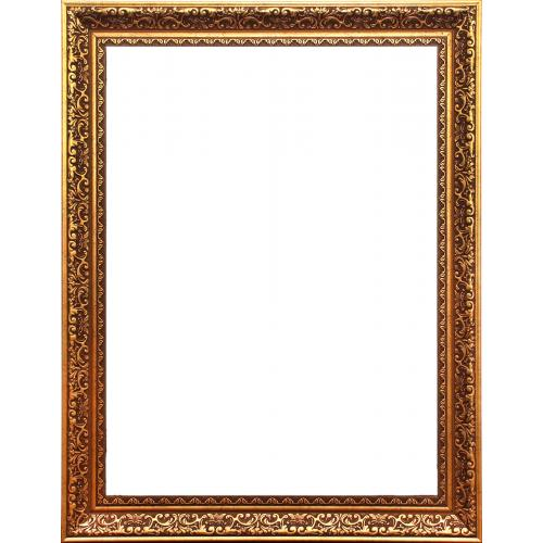FIBER FLOWER CARVING GOLDEN ANTIQUE FRAME