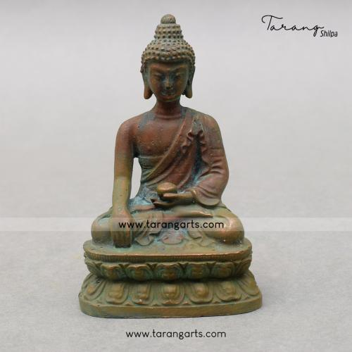 BUDDHA PANCHALOHA IDOL ANTIQUE FINISH