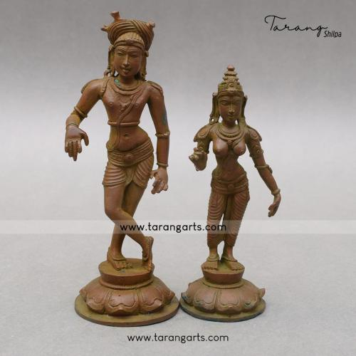 RISHABHADEVER PANCHALOHA IDOL ANTIQUE FINISH
