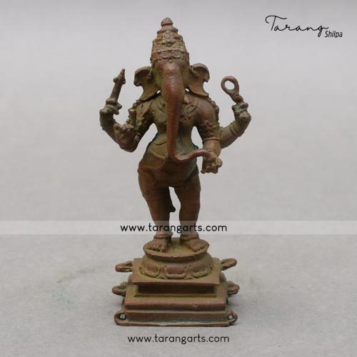 GANESHA PANCHALOHA IDOL ANTIQUE FINISH