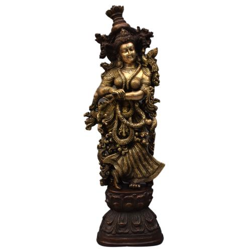 BRASS RADHA IDOL ANTIQUE FINISH