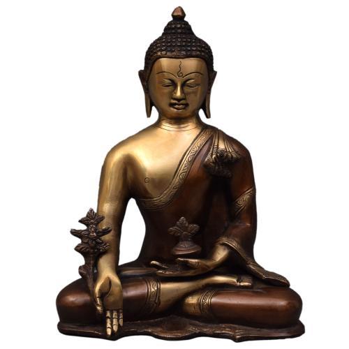 BRASS BUDDHA IDOL ANTIQUE FINISH