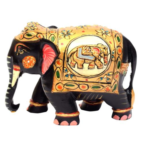 WOODEN PAINTED ELEPHANT