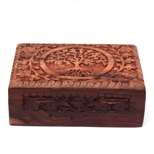 SHEESHAM WOOD JEWELLERY BOX TREE